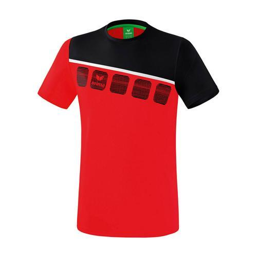 T-Shirt 5-C Rouge/Noir Erima