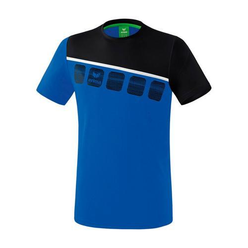 T-Shirt 5-C Royal/Noir enfant Erima