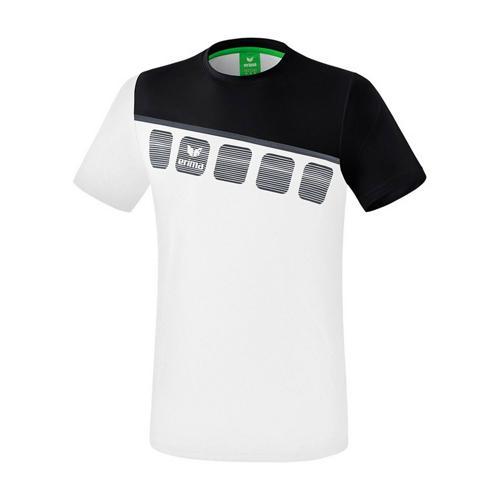 T-Shirt 5-C Blanc/Noir enfant Erima