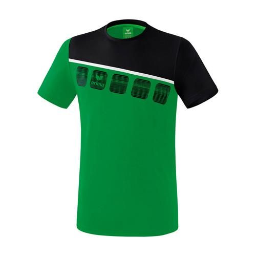 T-Shirt 5-C Vert/Noir enfant Erima