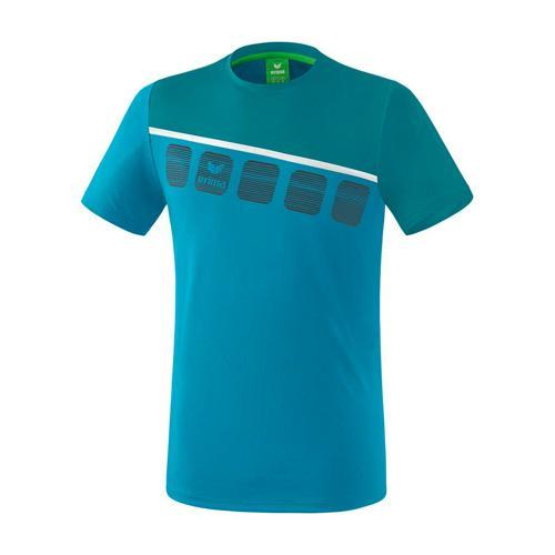 T-Shirt 5-C Bleu/Bleu enfant Erima