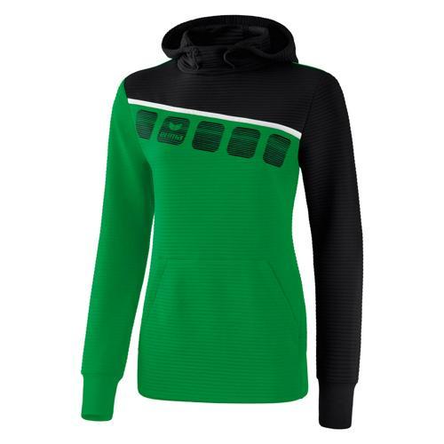 Sweat capuche 5-C Vert/Noir Feminin Erima