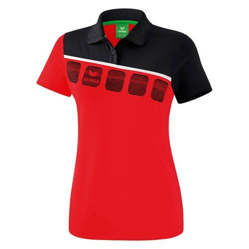 Polo 5-C Rouge/Noir Feminin Erima