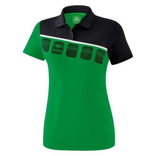 Polo 5-C Vert/Noir Feminin Erima