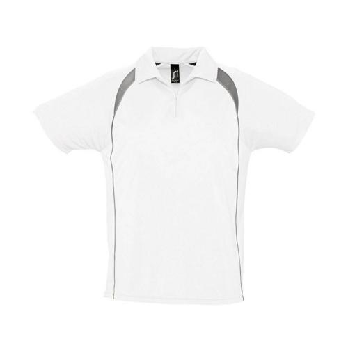 Polo concept Expert 1/2 zip blanc