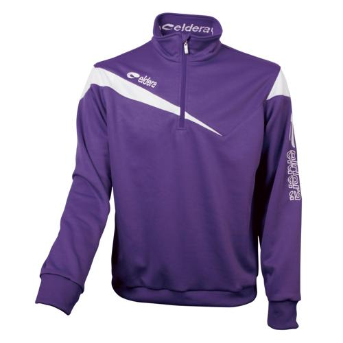 Sweat-Shirt 1/2 Zip Eldera Victoire Violet/Blanc