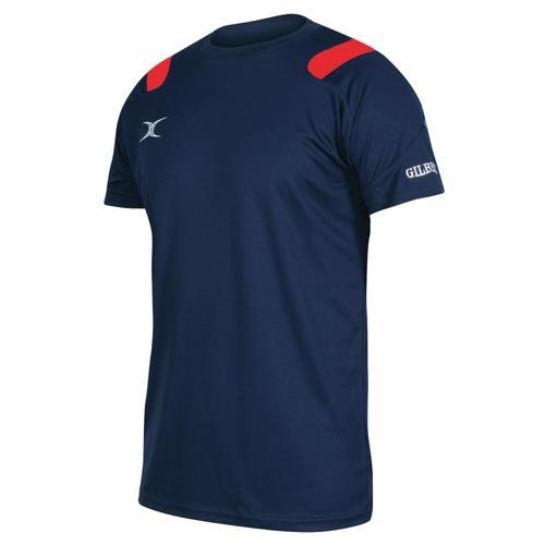 Tee-shirt Gilbert vapour marine / rouge