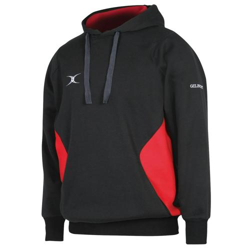 Sweat capuche Gilbert Vapour noir / rouge