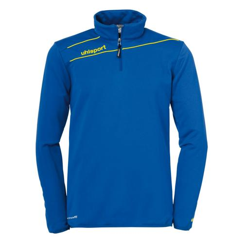 SWEAT STREAM 3 1/2 ZIP ROYAL / JAUNE UHLSPORT
