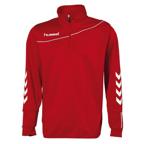 Sweat 1/2 zip Hummel corporate enfant Rouge/Blanc