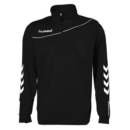 sweat-shirt 1/2 zip corporate enfant noir / royal