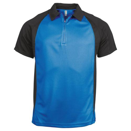 POLO 1/2 ZIP PLAYER PES TECH BLEU AQUA-NOIR