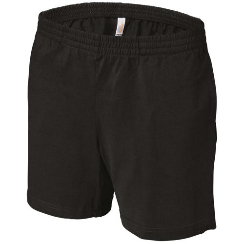 SHORT FEMININ MULTISPORT COTON TECH NOIR