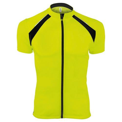 Maillot cyclisme enduro technique jaune