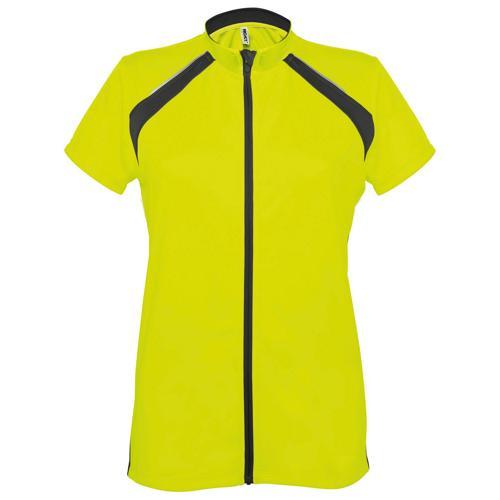 Maillot cyclisme enduro femme jaune