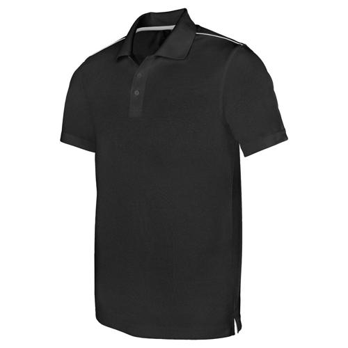 POLO INTERLOCK PES TECH NOIR