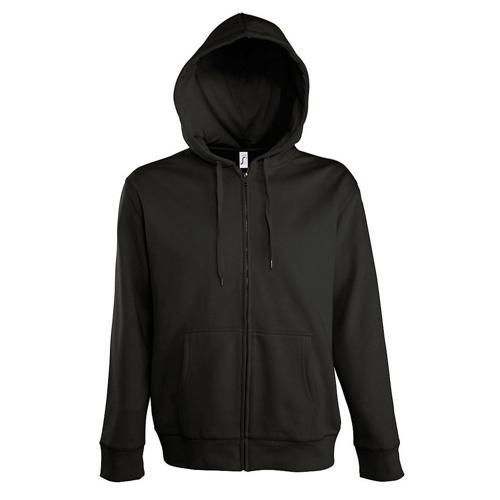 Veste féminine zippée à capuche Uni Tech noir