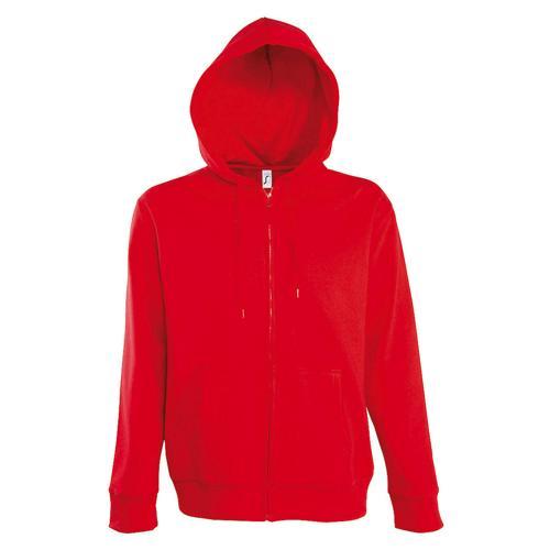 Veste féminine zippée à capuche Uni Tech rouge