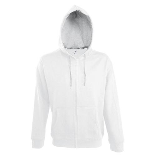 Veste féminine zippée à capuche Contrastée Tech blanc