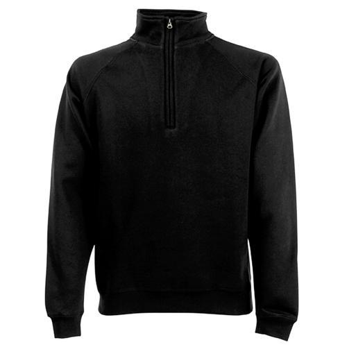 Sweat 1/2 zip molleton Uni Expert noir