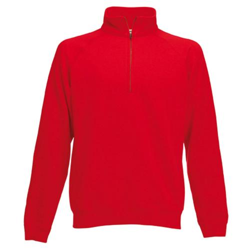 Sweat 1/2 zip molleton Uni Expert rouge