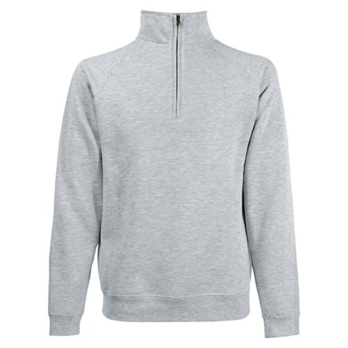Sweat 1/2 zip molleton Uni Expert gris chiné