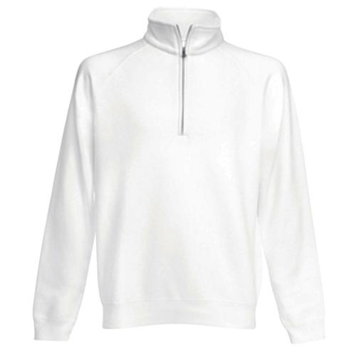 Sweat 1/2 zip molleton Uni Expert blanc