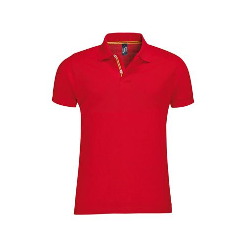POLO PATRIOT COL BICOLORE TECH ROUGE-BLANC