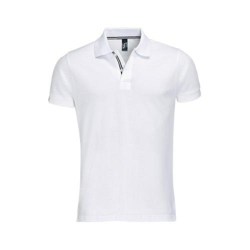 POLO PATRIOT COL BICOLORE TECH BLANC-NOIR