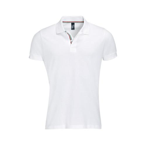 POLO PATRIOT COL BICOLORE TECH BLANC-ROUGE