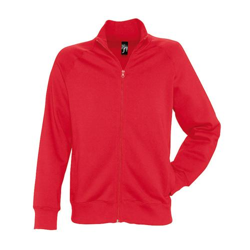 Veste zippée molleton Uni Tech rouge