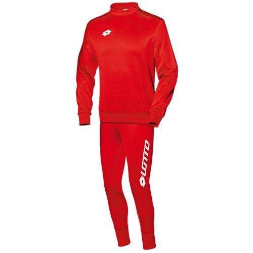 Ensemble Sweat 1/2 zip + pantalon Lotto FIT Cut PES Zenith LOTTO Rouge/Blanc