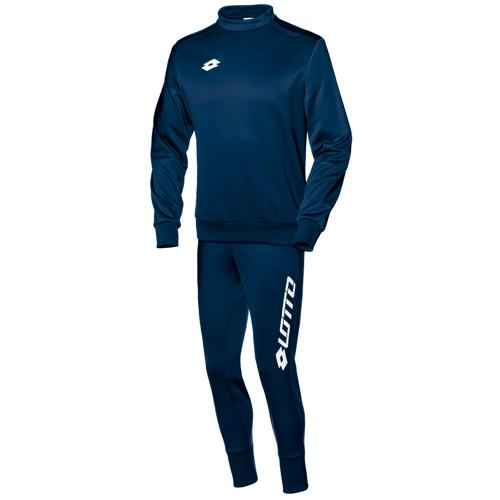 Ensemble Sweat 1/2 zip + pantalon Lotto FIT Cut PES Zenith LOTTO Marine/Blanc