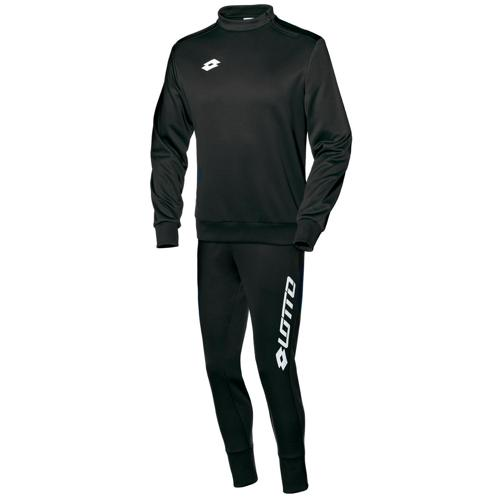 Ensemble Sweat 1/2 zip + pantalon Lotto FIT Cut PES Zenith LOTTO Noir/Blanc