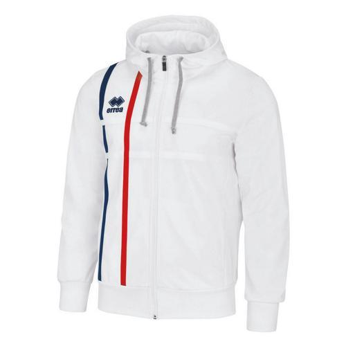 Veste de Survêtement capuche Errea Maddi PES Blanc/Marine/Rouge
