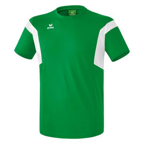 Tee-shirt Erima Classic Team PES Vert/Blanc