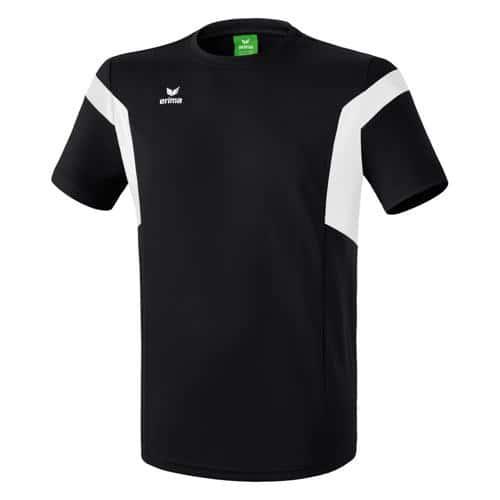 Tee-shirt Erima Classic Team PES Noir/Blanc