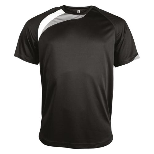 Tee-shirt Casal Sport Wave PES Noir/Blanc/Gris