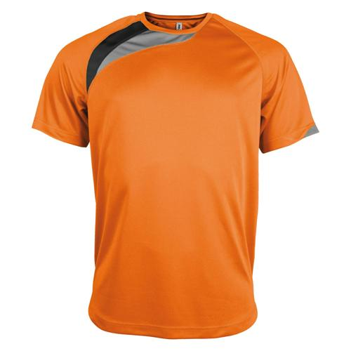 Tee-shirt Casal Sport Wave PES Orange/Noir/Gris