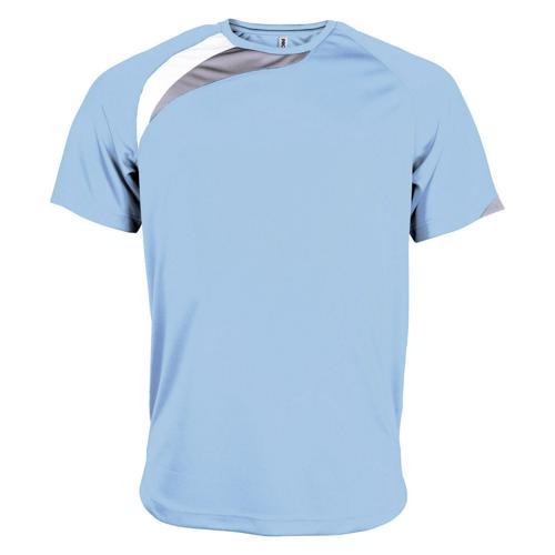 Tee-shirt Casal Sport Wave PES Ciel/Blanc/Gris
