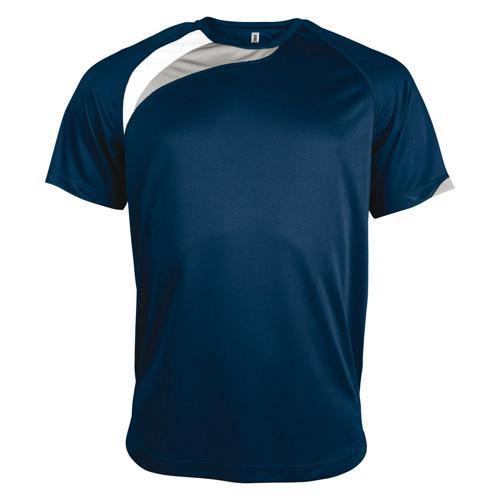 Tee-shirt Casal Sport Wave PES Marine/Blanc/Gris