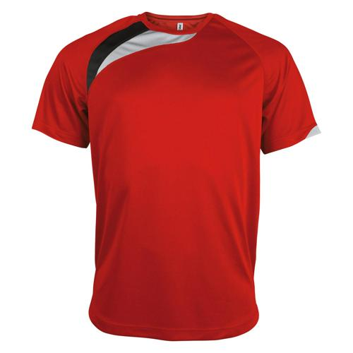Tee-shirt Casal Sport Wave PES Rouge/Blanc/Gris