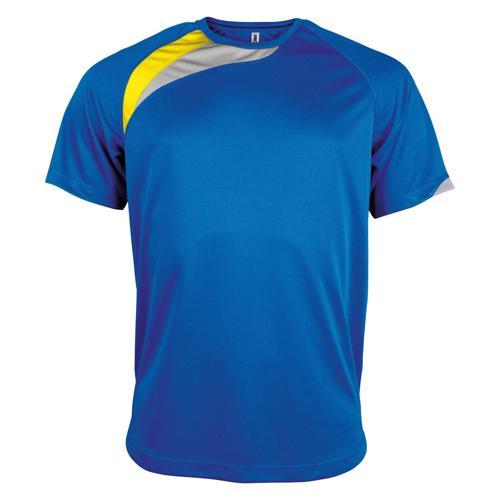Tee-shirt Casal Sport Wave PES Royal/Jaune/Gris