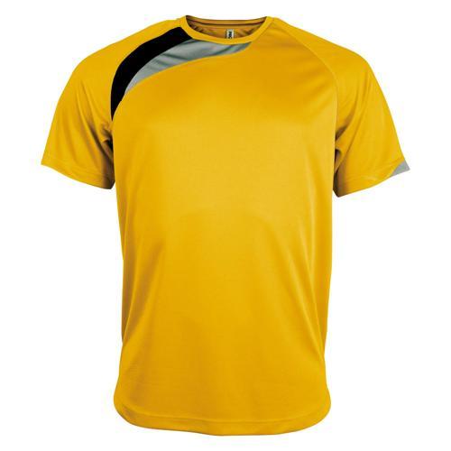 Tee-shirt Casal Sport Wave PES Jaune/Noir/Gris