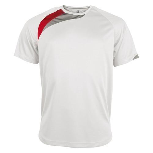 Tee-shirt Casal Sport Wave PES Blanc/Rouge/Gris