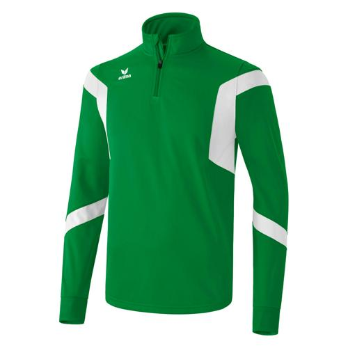 Sweat Erima Clasic Team 1/2 zip PES Vert/Blanc