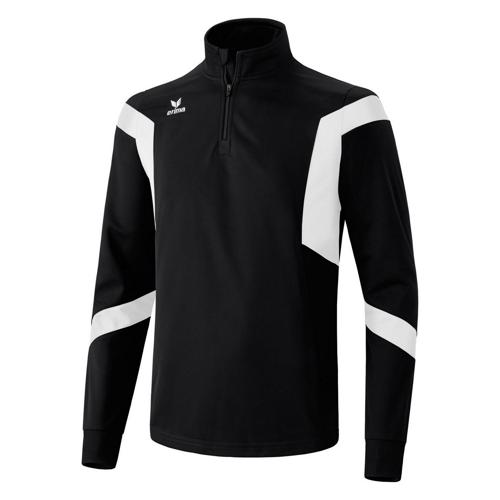 Sweat Erima Clasic Team 1/2 zip PES Noir/Blanc
