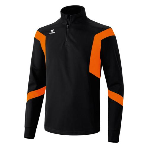Sweat Erima Clasic Team 1/2 zip PES Noir/Orange