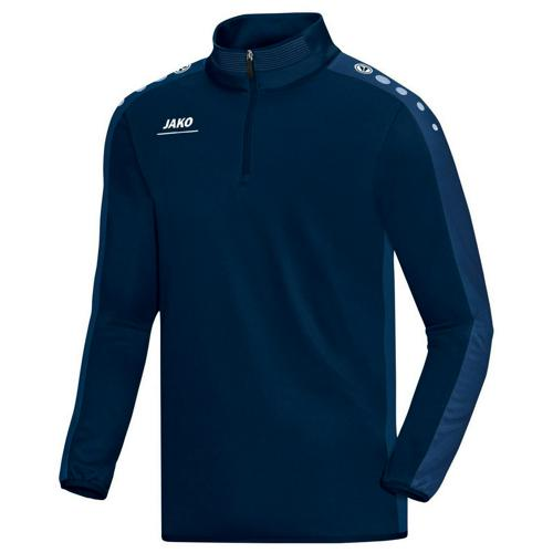 Sweat 1/2 zip Jako Striker PES Marine/Bleu
