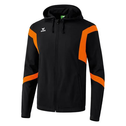 Veste capuche Erima Classic Team PES Noir/Orange